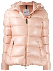 Moncler Hooded Down Jacket Pink