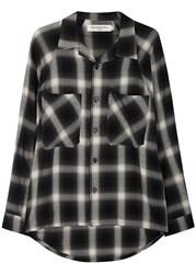 Mr. Completely Black Checked Flannel Shirt Black And White