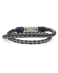 Diesel Navy And Grey Alucy Magnetic Double Woven Bracelet Blue