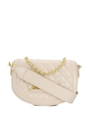 Love Moschino Quilted Crossbody Bag Neutrals