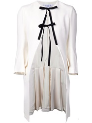 Christian Dior Dior Open Front Tie Detail Jacket White