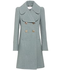 Chloe Wool Blend Coat Blue
