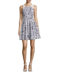 Guess Floral Pleated Dress Navy Mutlicolor
