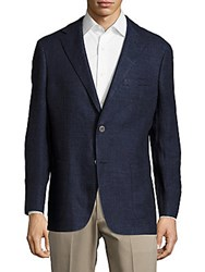 Hickey Freeman Sterling Linen Blazer Navy