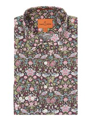 Simon Carter Liberty Fish Print Shirt Pink