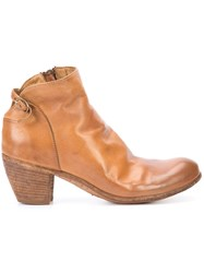 Officine Creative Chabrol Ankle Boots Women Buffalo Leather Calf Leather 37 Brown