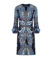 Hale Bob Printed Belted Tunic Female Blue