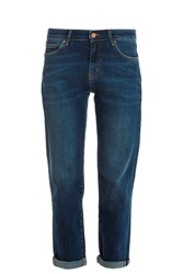 Mih Jeans Phoebe Cropped Jeans Blue