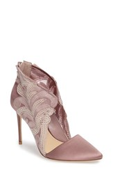 Imagine By Vince Camuto Women's Obin Lace Detailed Pointy Toe Pump Vintage Rose Satin