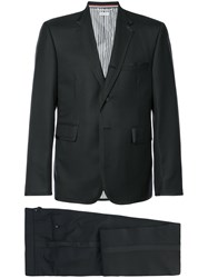 Thom Browne Classic Tuxedo With Grosgrain Tipping In Super 120'S Twill Black