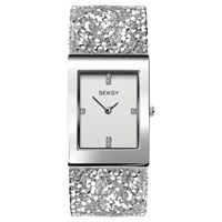 Sekonda 'S Seksy Swarovski Crystal And Crystal Rock Bracelet Strap Watch White Silver 2652.37