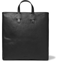 Miansai Full Grain Leather Tote Bag Black