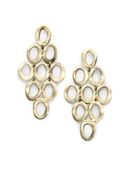 Ippolita Glamazon Sculptural Metal 18K Yellow Gold Open Cascade Earrings No Color
