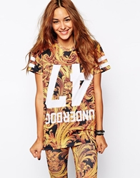 Criminal Damage Oversized T Shirt With Regal Baroque Print Co Ord