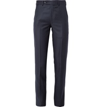 Freemans Sporting Club Pin Dot Wool Suit Trousers Blue