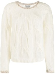 Forte Forte Cable Knit Sweater Neutrals