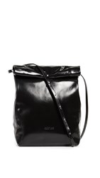 Helmut Lang Fold Over Cross Body Bag Black