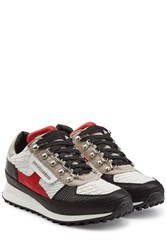 Dsquared2 Sneakers With Embossed Leather Multicolor