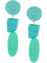 Shourouk Beaded Drop Earrings Blue