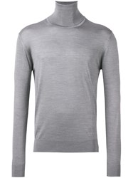 Lanvin Turtleneck Fitted Jumper Grey