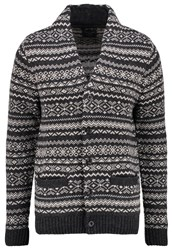 Abercrombie And Fitch Cardigan Grey Mottled Grey