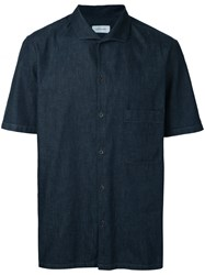 Christophe Lemaire Short Sleeve Shirt Blue