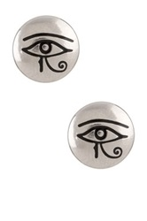 Alex And Ani Sacred Studs Eye Of Horus Earrings Metallic