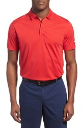 Men's Nike 'Victory Dri Fit Golf Polo University Red White