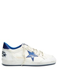 Golden Goose Ball Star Low Top Leather Trainers Blue Multi