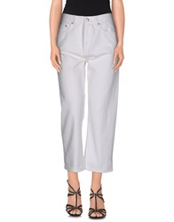 Marc By Marc Jacobs Denim Denim Trousers Women White