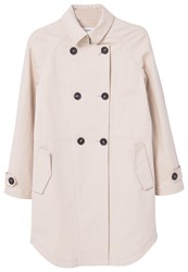 Mango Classic Cotton Trench Coat Cream