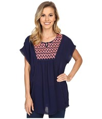 Ariat Gloria Tunic Peacoat Women's Short Sleeve Pullover Blue