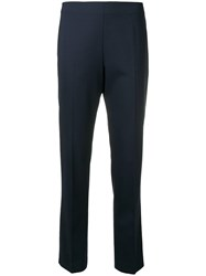 Aspesi Navy Slim Fit Trousers Blue