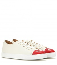 Charlotte Olympia Kiss Me Leather Sneakers White