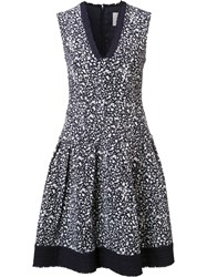 Carolina Herrera Brush Splatter Print Dress Black