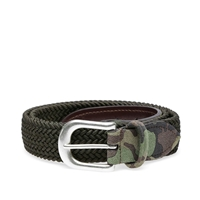 Andersons Anderson's Woven Textile Belt Olive And Camo