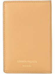 Common Projects Contrast Bi Fold Wallet Brown