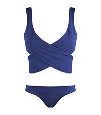 Lisa Marie Fernandez Louise Wrap Around Bikini Female Blue