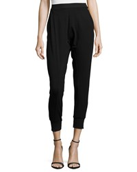 Eileen Fisher Jersey Ankle Harem Pants Black Women's