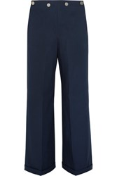 Jil Sander Cotton Wide Leg Pants Navy