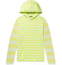 Acne Studios Emest Striped Cotton Jersey Hoodie Yellow