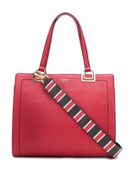 Tosca Blu Contrast Stitching Shoulder Bag Red