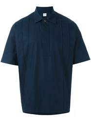 E. Tautz 'Val' Pleated Shortsleeved Shirt Blue