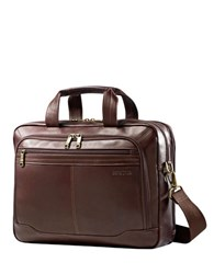 Samsonite Brown Leather Briefcase No Color