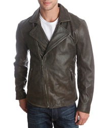 Lucky Brand Leather Biker Jacket Black