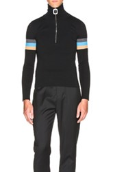 J.W.Anderson J.W. Anderson High Neck Sweater With Zip Detail In Black
