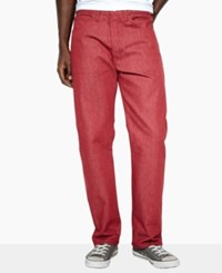 Levi's 501 Original Shrink To Fit Jeans Red