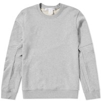 Comme Des Garcons Shirt Articulated Arm Crew Sweat Grey