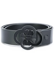 Salvatore Ferragamo Double Gancio Buckle Belt Leather Black