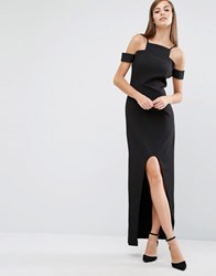 8Th Sign The Cut Out High Low Maxi Dress Black